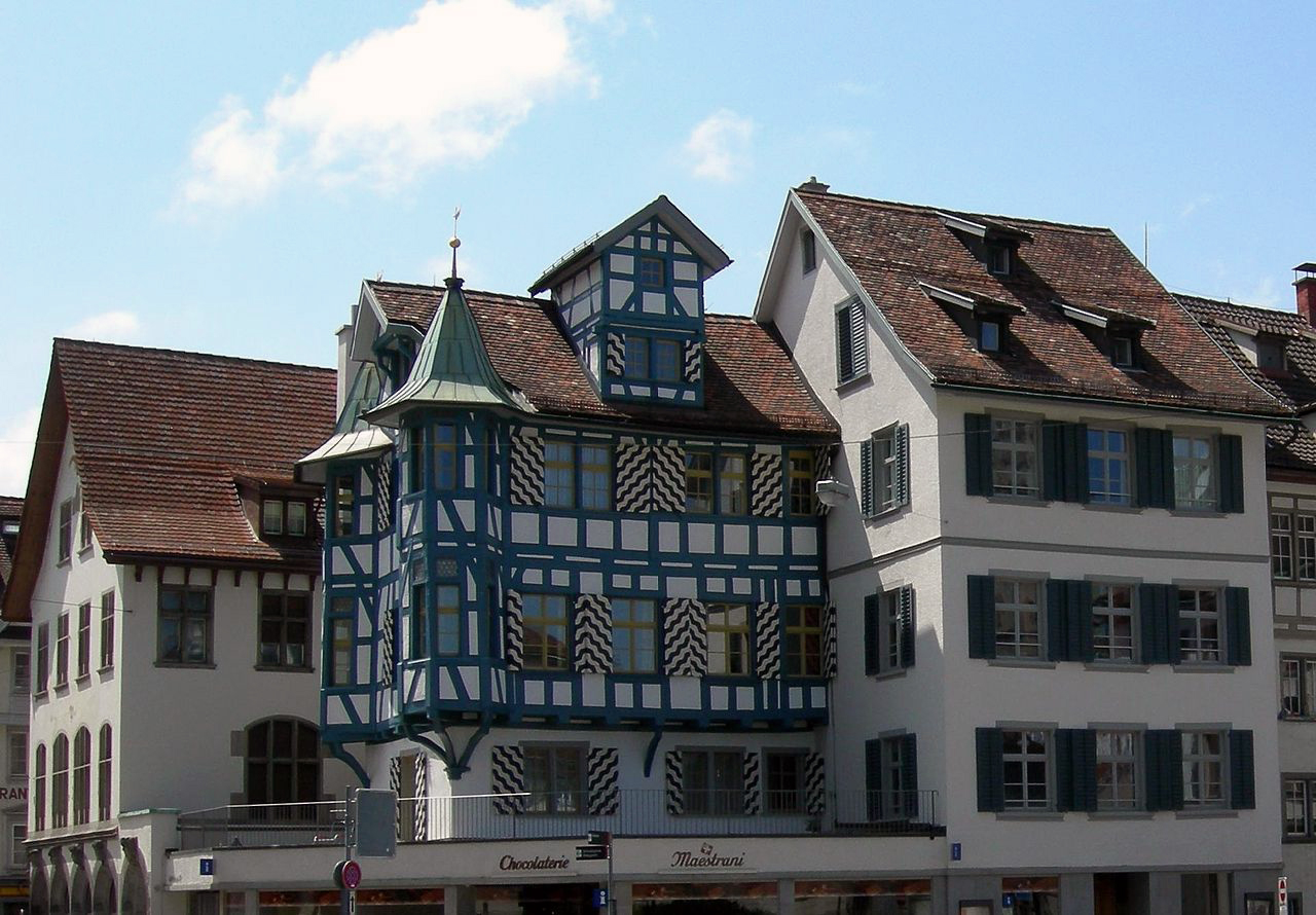 Old houses in St. Gallen (Bild: © Schaffhausen - wikimedia.org)
