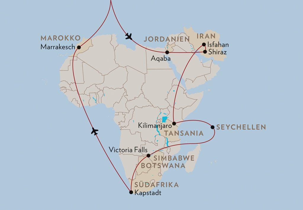 Karte Afrika (© Globus Reisen)