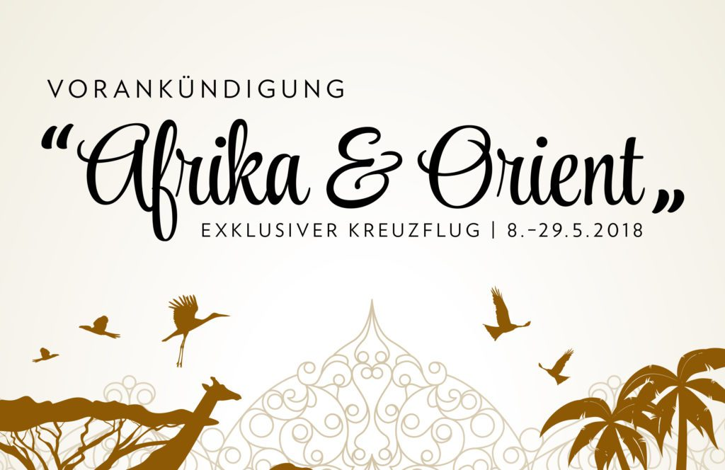 Vorankündigungs-Flyer (© Globus Reisen)