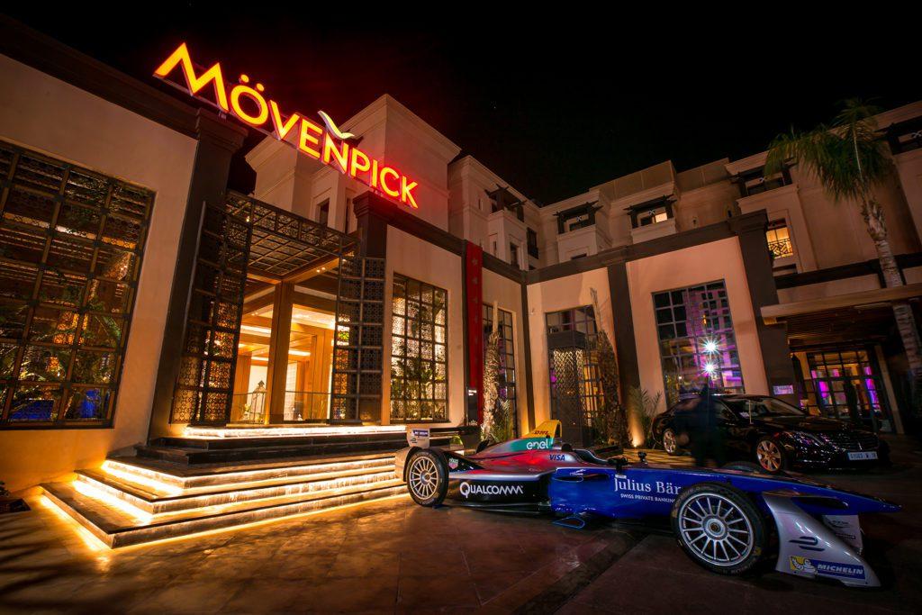 Eingang zum Mövenpick Hotel in Marrakech