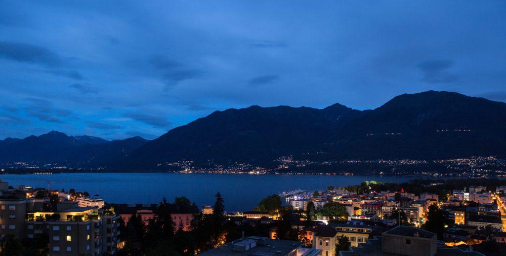 Seeblick der Abenddämmerung (© Hotel Belvedere Locarno)