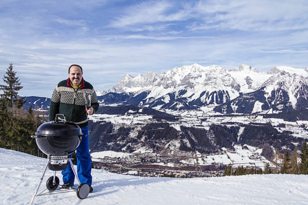 TV-Starkoch Johann Lafer lädt am 26.3. in Schladming-Dachstein zur größten Grillparty Österreichs ein. (© Ski amadé)