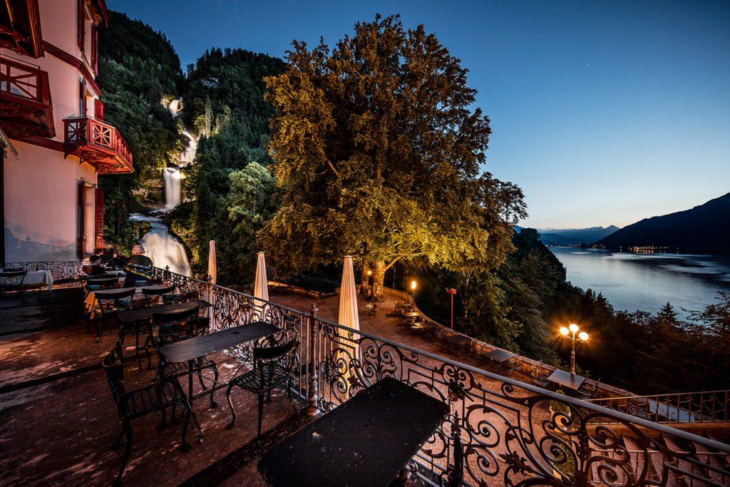 Grandhotel Giessbach - Terrasse Seeblick (© Garten Hotels Schweiz)