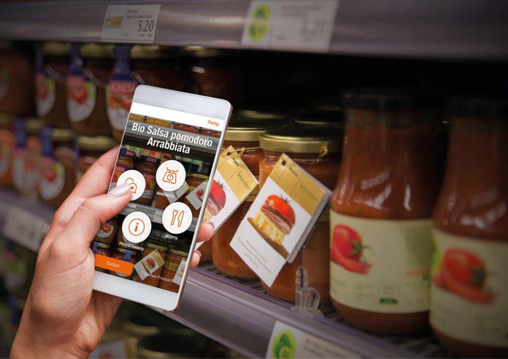 Migros-App mit Produkterkennung (© Migros-Genossenschafts-Bund)
