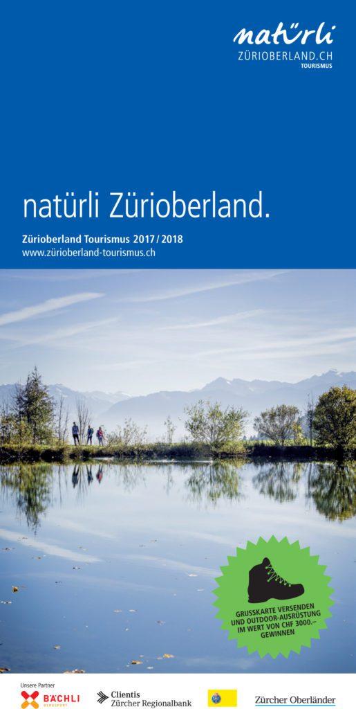Neue Broschüre «natürli Zürioberland.» 2017/18 von Zürioberland Tourismus (© Zürioberland Tourismus)