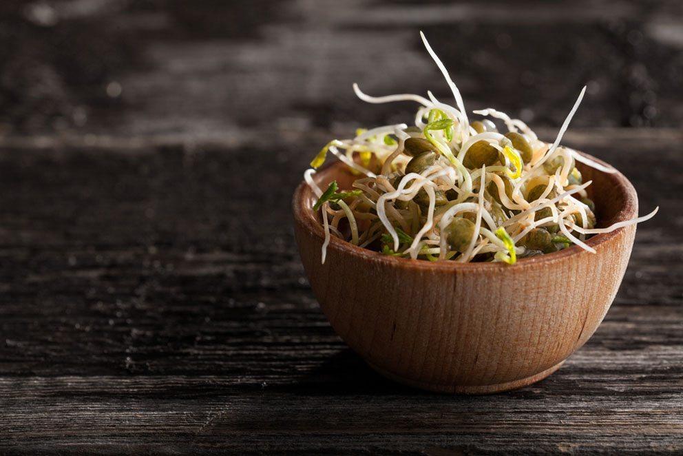 Probieren Sie doch auch einmal die gesunden Linsen-Sprossen. (Bild: Frenzel – Shutterstock.com)