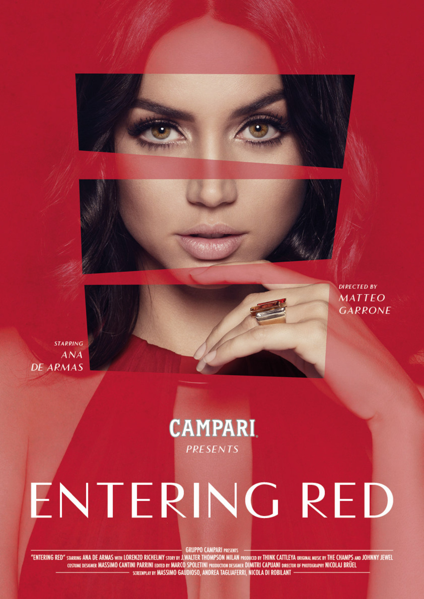 Ana De Armas revealed as the star of Campari Red Diaries 2019, Entering Red, a short movie directed by Matteo Garrone