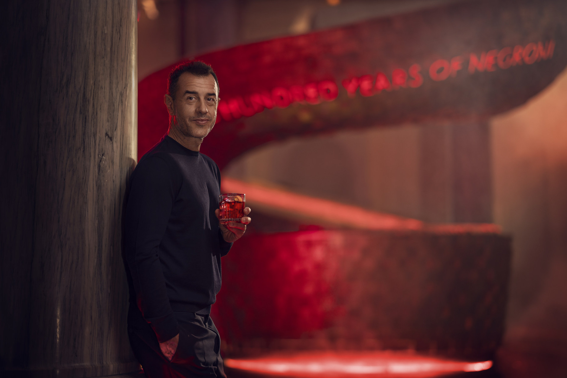 Matteo Garrone on the set of Entering Red, his latest masterpiece, filmed for Campari as part of the 2019 Red Diaries campaign, staring Ana De Armas
